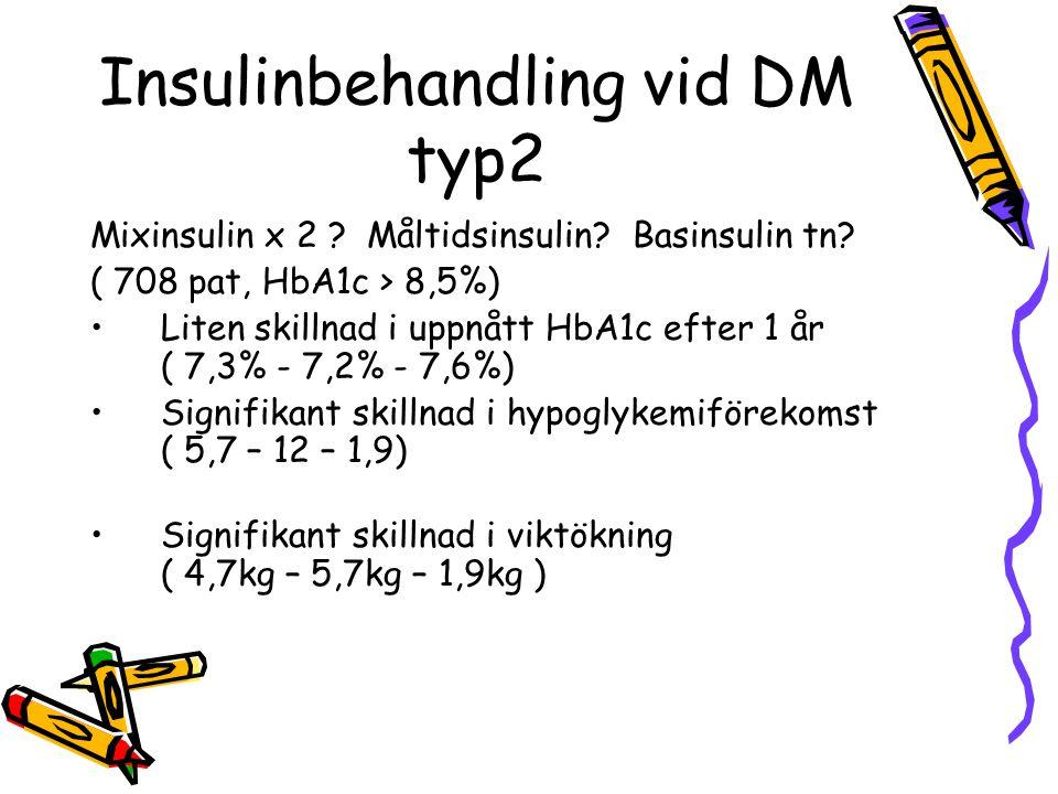 Insulinbehandling vid DM typ2