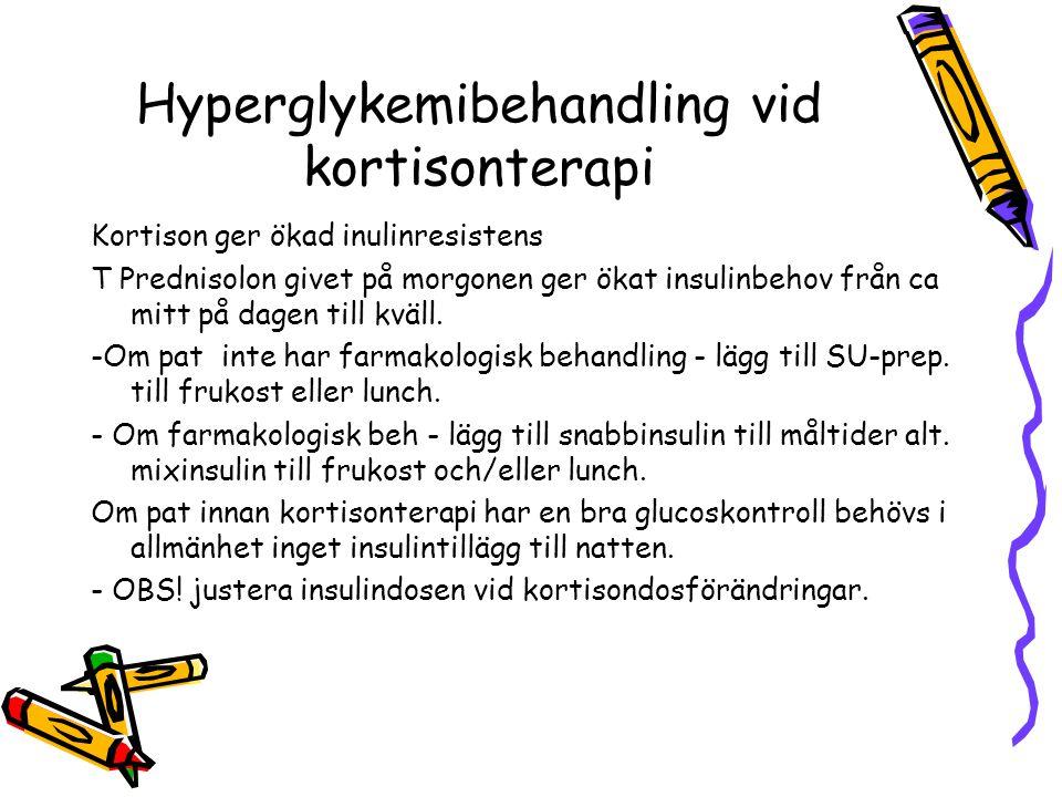 Hyperglykemibehandling vid kortisonterapi