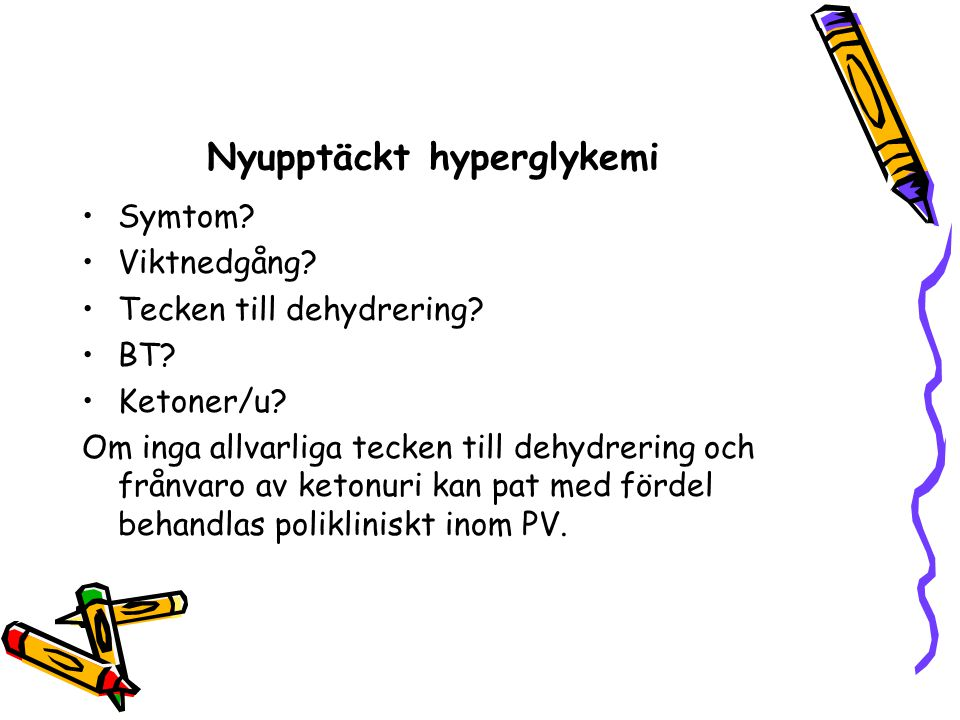 Nyupptäckt hyperglykemi