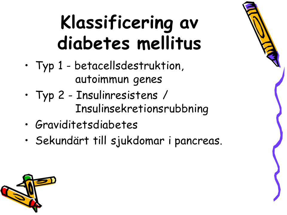 Klassificering av diabetes mellitus