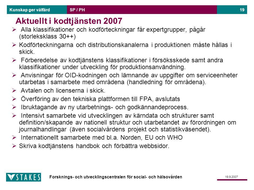 Aktuellt i kodtjänsten 2007