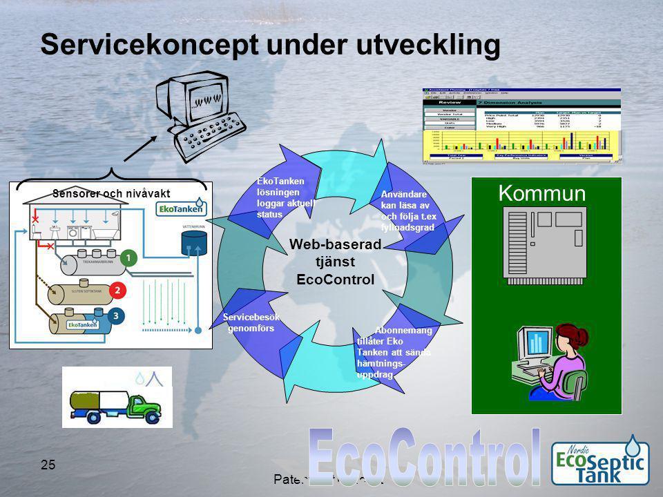 EcoControl Servicekoncept under utveckling Kommun Web-baserad tjänst