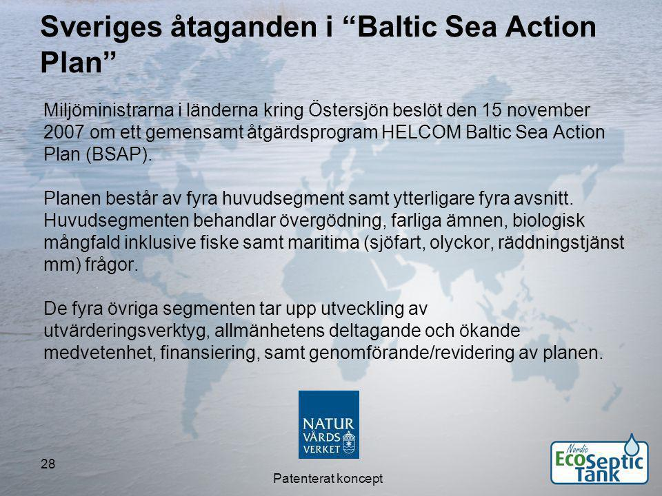Sveriges åtaganden i Baltic Sea Action Plan