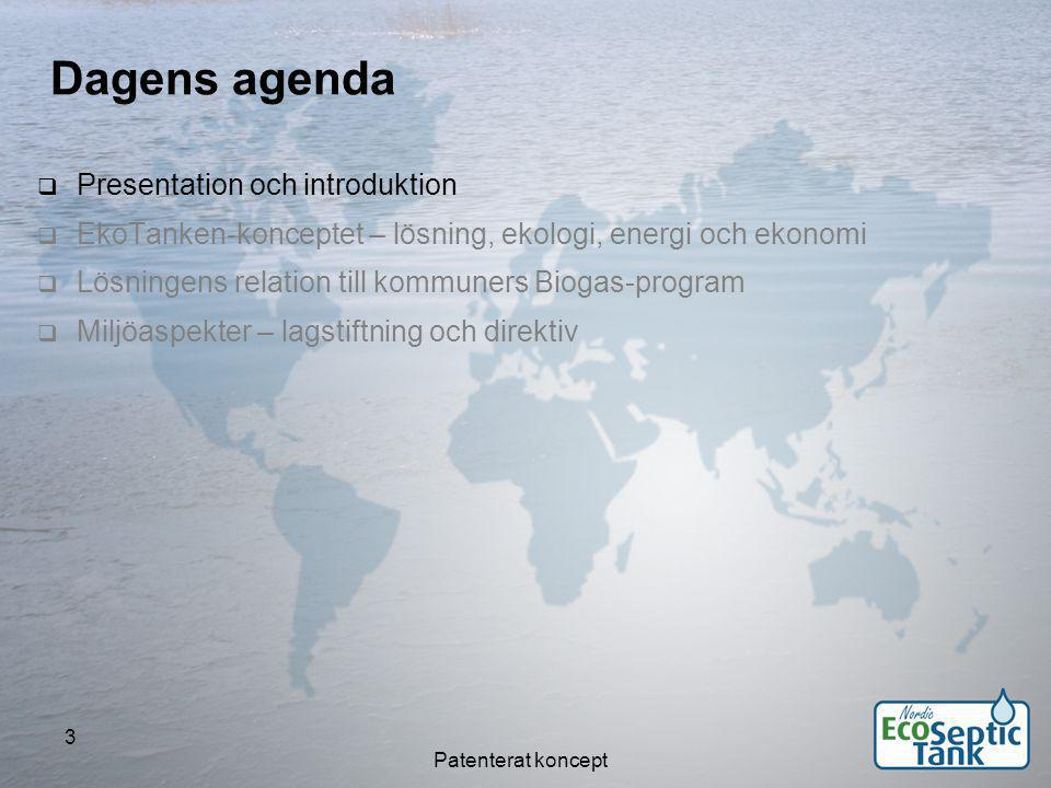 Dagens agenda Presentation och introduktion