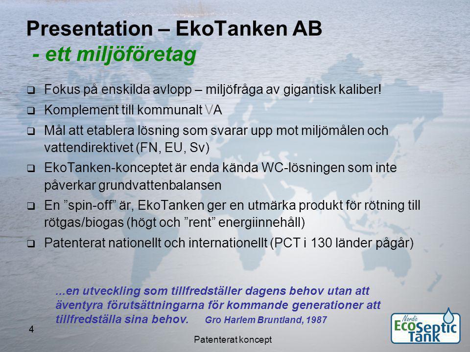 Presentation – EkoTanken AB - ett miljöföretag