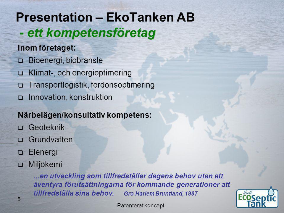 Presentation – EkoTanken AB - ett kompetensföretag