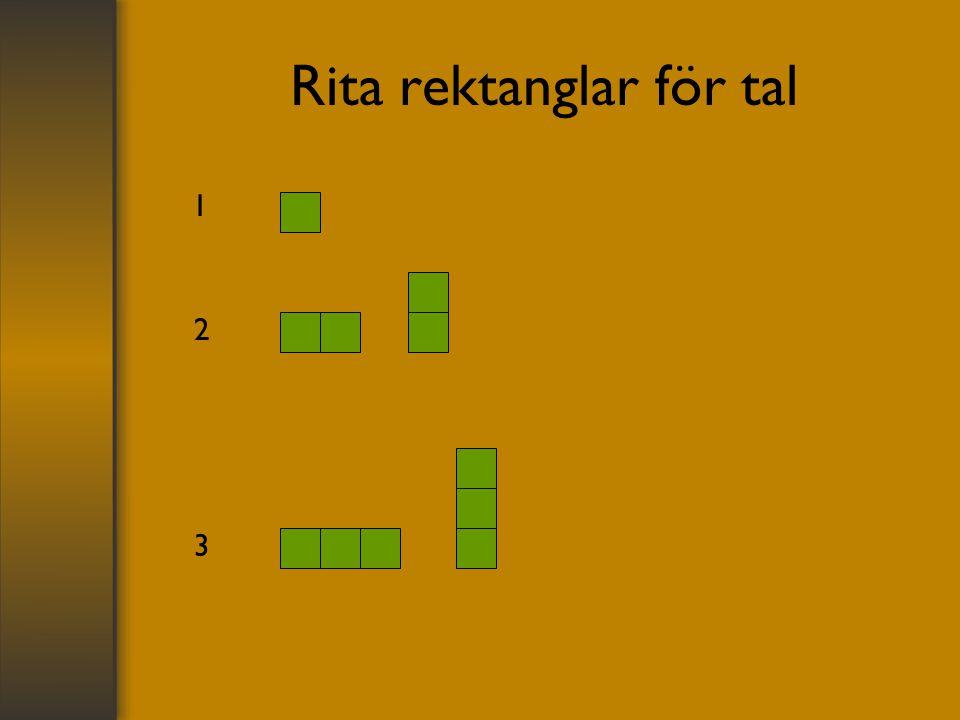 Rita rektanglar för tal