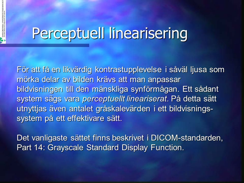 Perceptuell linearisering