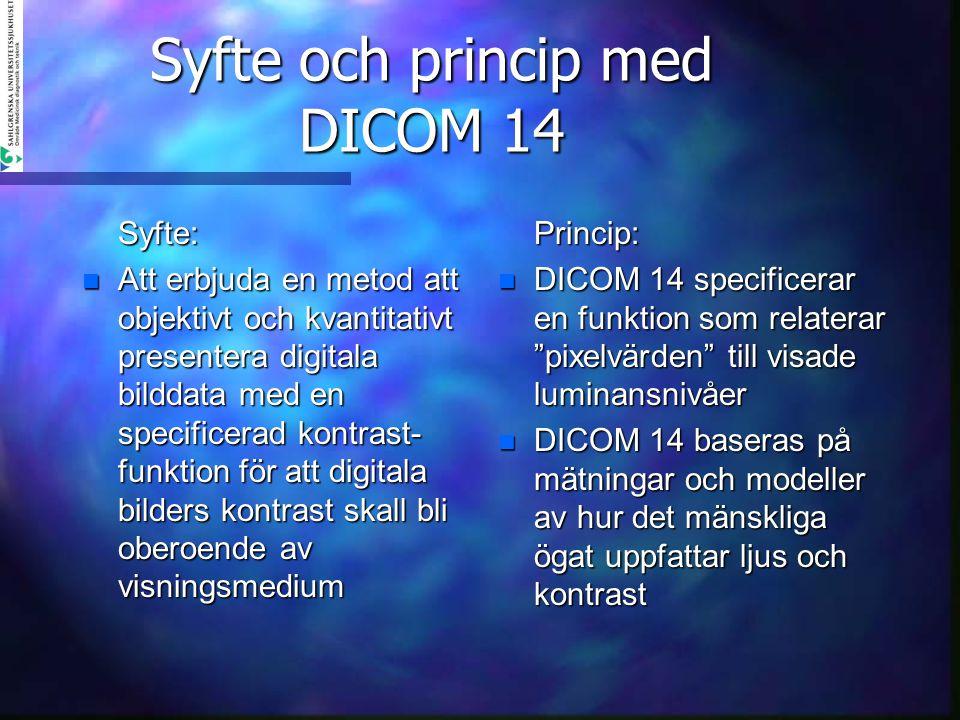Syfte och princip med DICOM 14