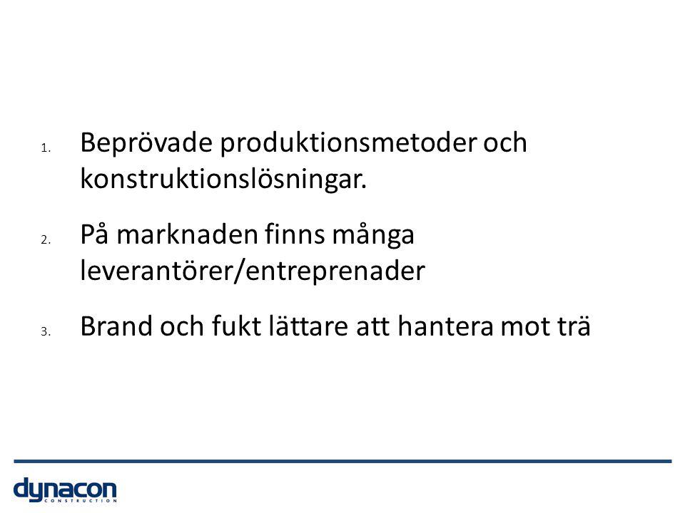 Beprövade produktionsmetoder och konstruktionslösningar.
