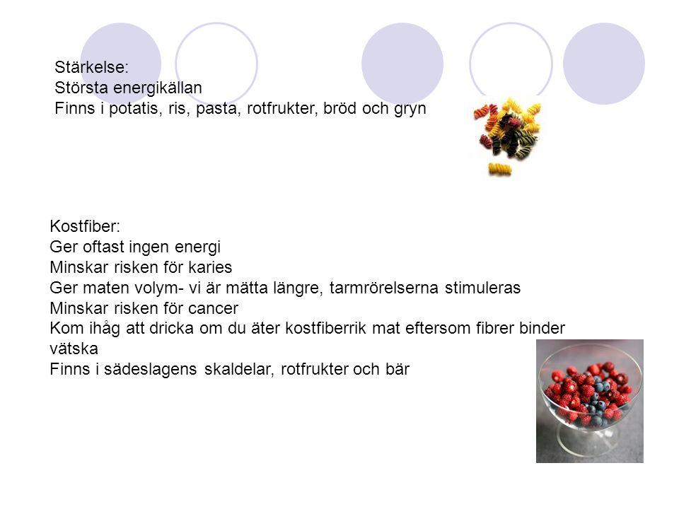 Stärkelse: Största energikällan Finns i potatis, ris, pasta, rotfrukter, bröd och gryn