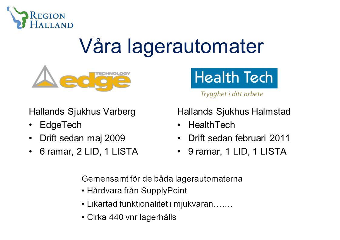 Våra lagerautomater Hallands Sjukhus Varberg EdgeTech