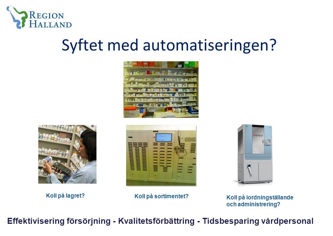 Syftet med automatiseringen