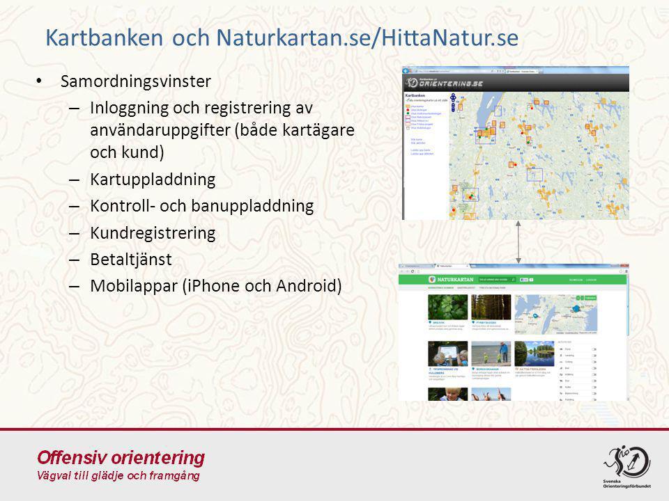 Kartbanken och Naturkartan.se/HittaNatur.se