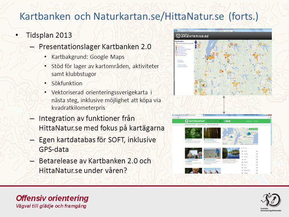 Kartbanken och Naturkartan.se/HittaNatur.se (forts.)
