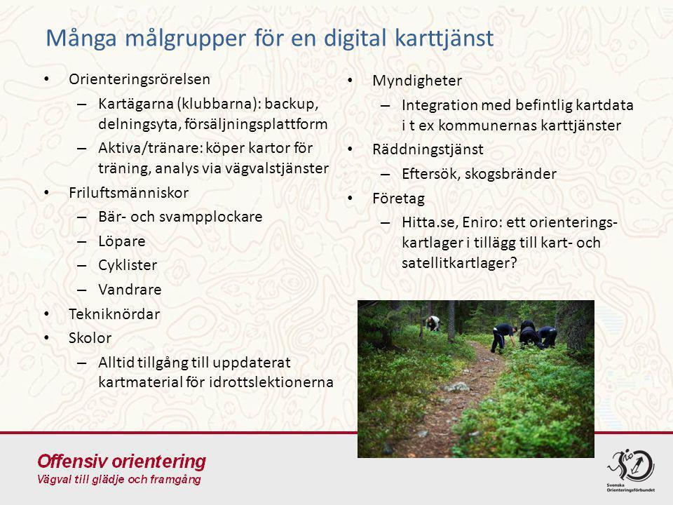 Många målgrupper för en digital karttjänst