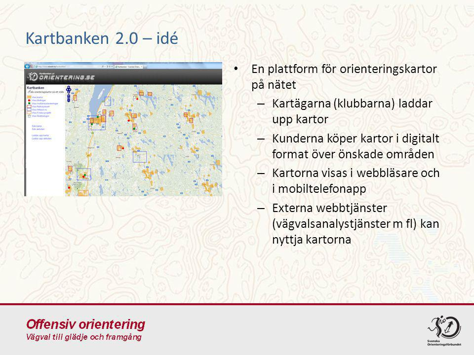 Kartbanken 2.0 – idé En plattform för orienteringskartor på nätet