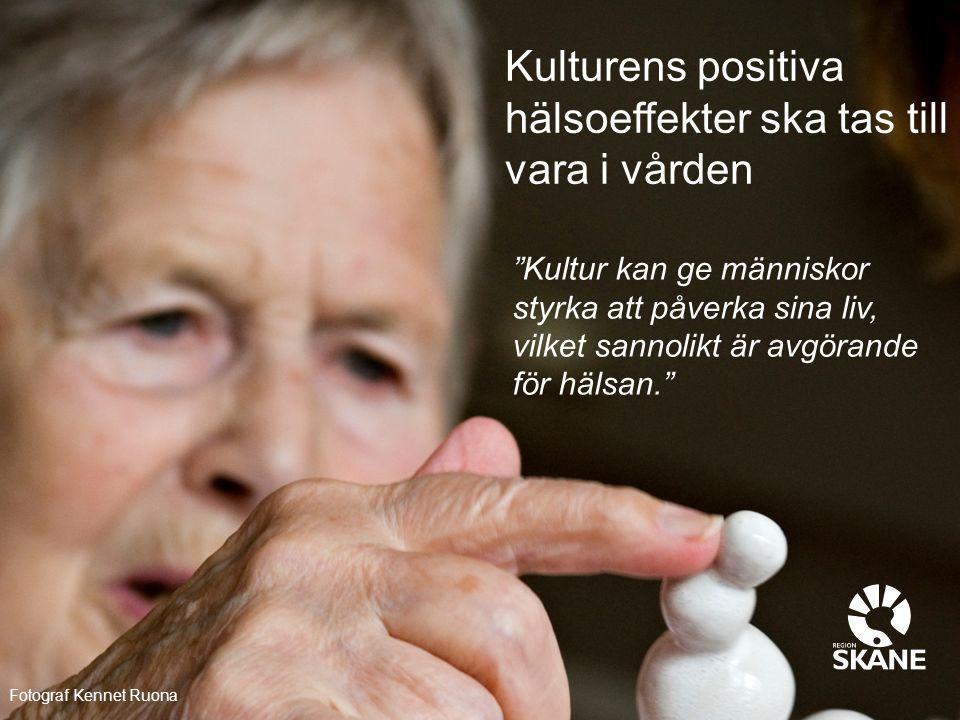 Kulturens positiva hälsoeffekter ska tas till vara i vården