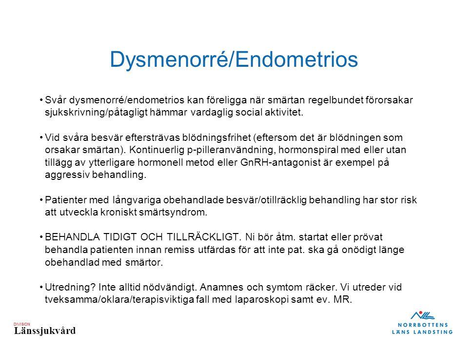 Dysmenorré/Endometrios