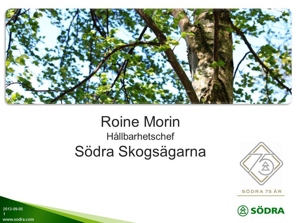 Roine Morin Hållbarhetschef Södra Skogsägarna 2013-09-05