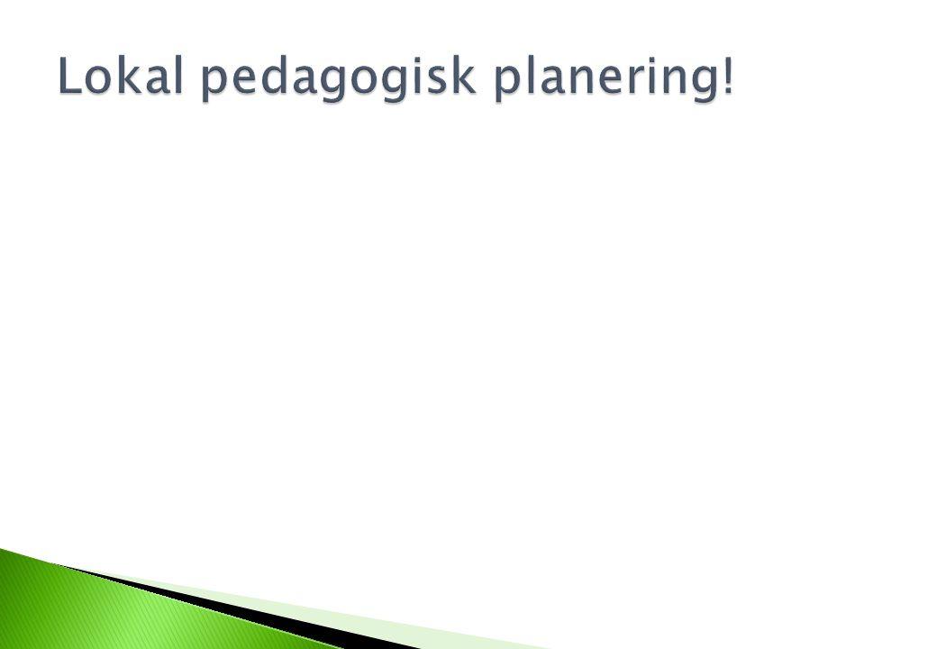 Lokal pedagogisk planering!