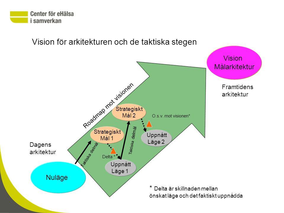 Vision för arkitekturen och de taktiska stegen