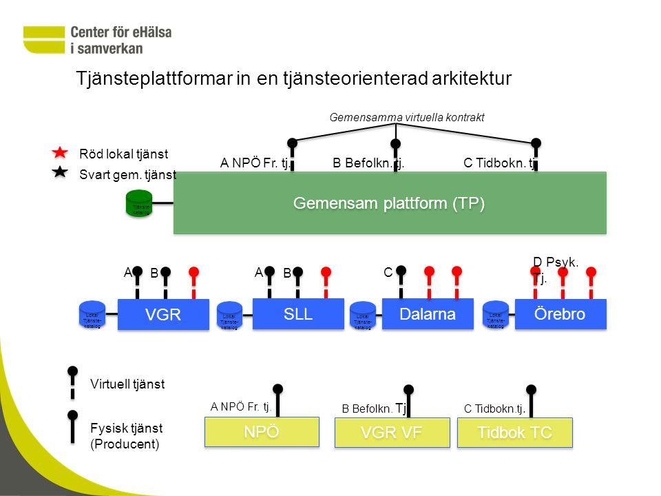 Tjänsteplattformar in en tjänsteorienterad arkitektur