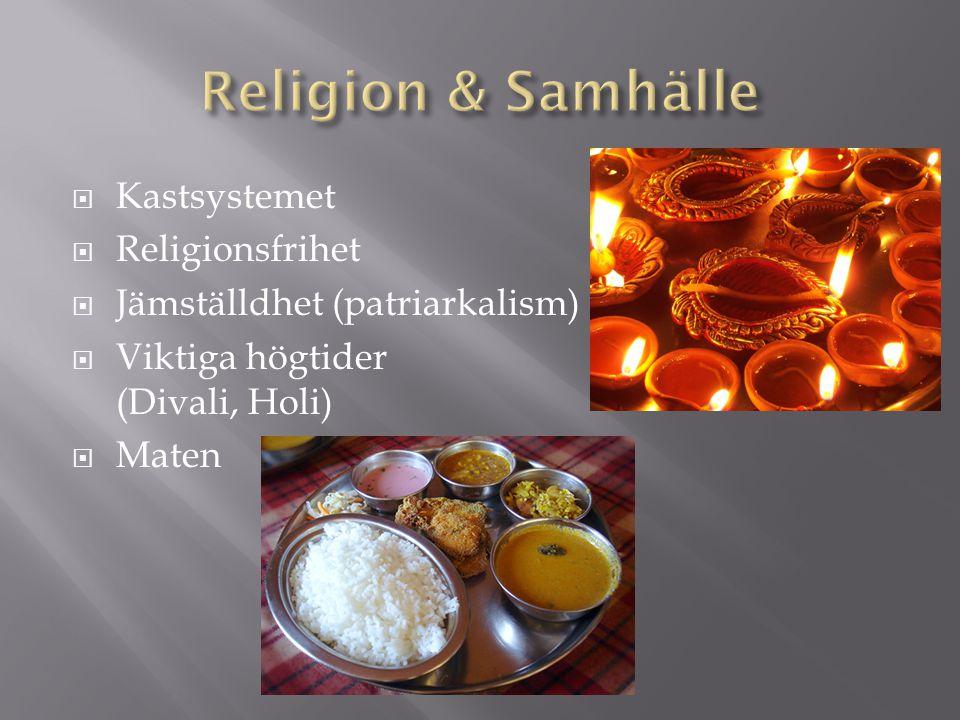 Religion & Samhälle Kastsystemet Religionsfrihet