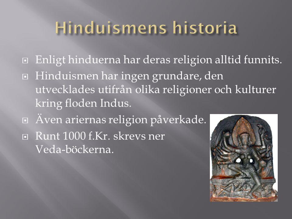 Hinduismens historia Enligt hinduerna har deras religion alltid funnits.