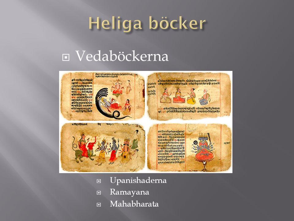 Heliga böcker Vedaböckerna Upanishaderna Ramayana Mahabharata