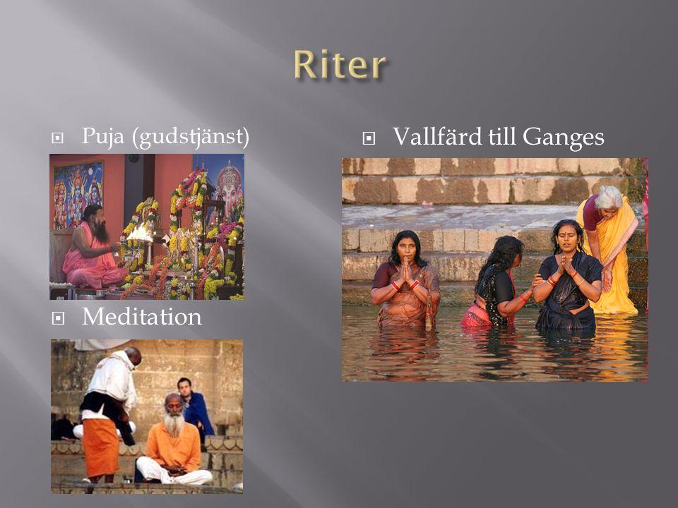 Riter Puja (gudstjänst) Meditation Vallfärd till Ganges