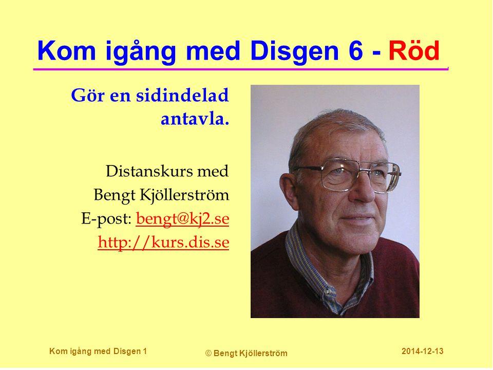 Kom igång med Disgen 6 - Röd
