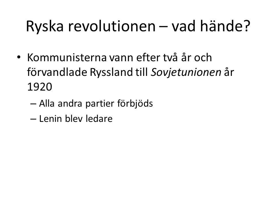 Ryska revolutionen – vad hände