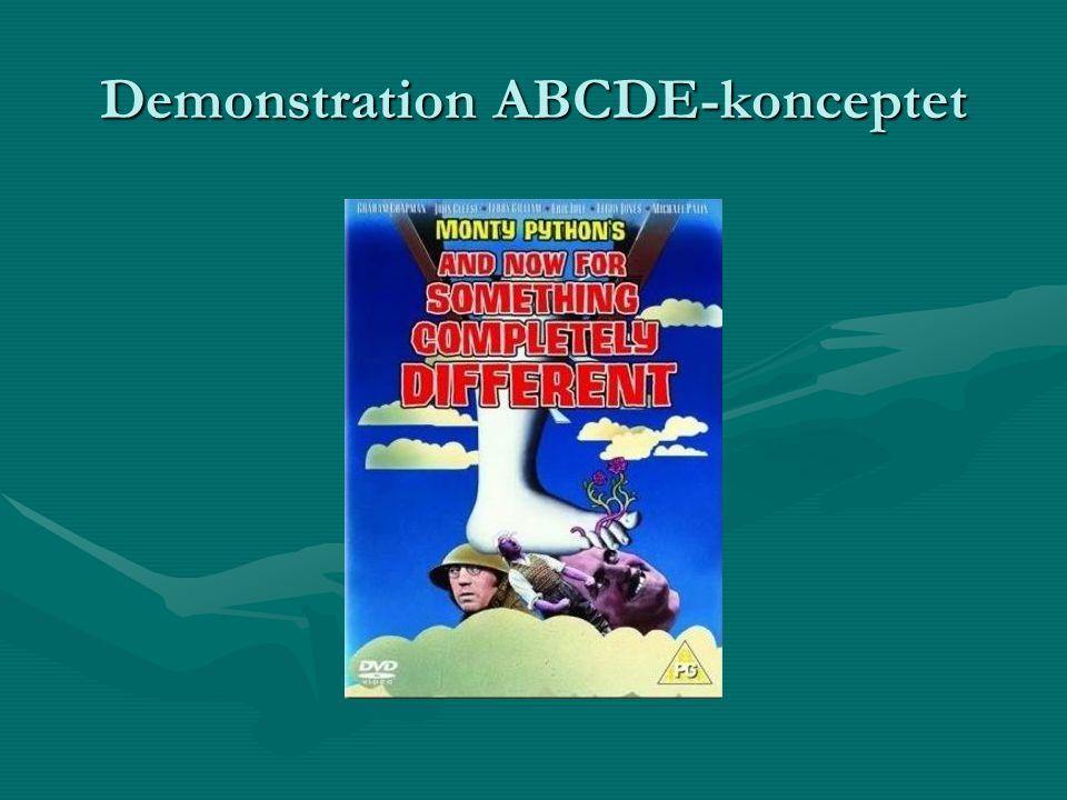 Demonstration ABCDE-konceptet