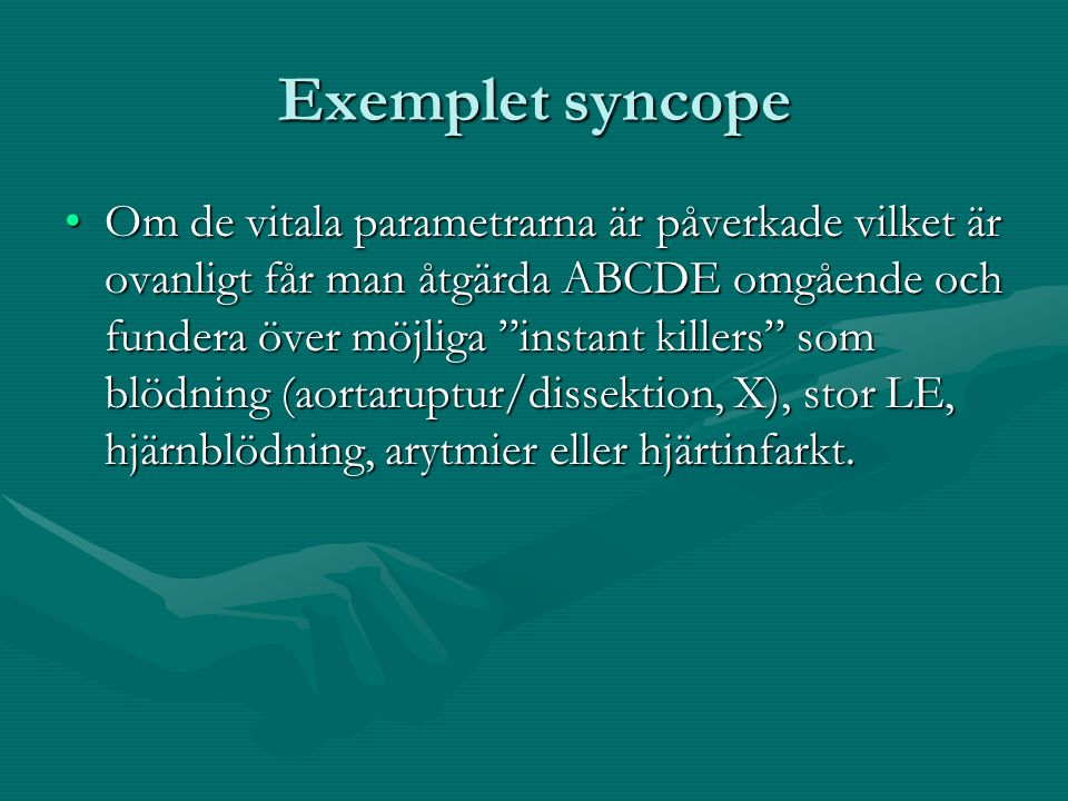Exemplet syncope