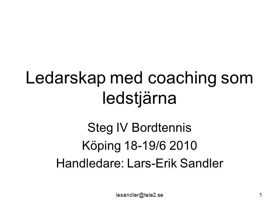 Ledarskap med coaching som ledstjärna