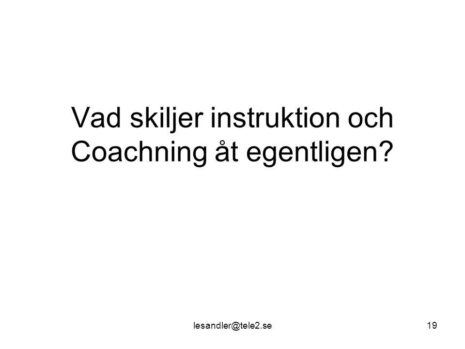 Vad skiljer instruktion och Coachning åt egentligen