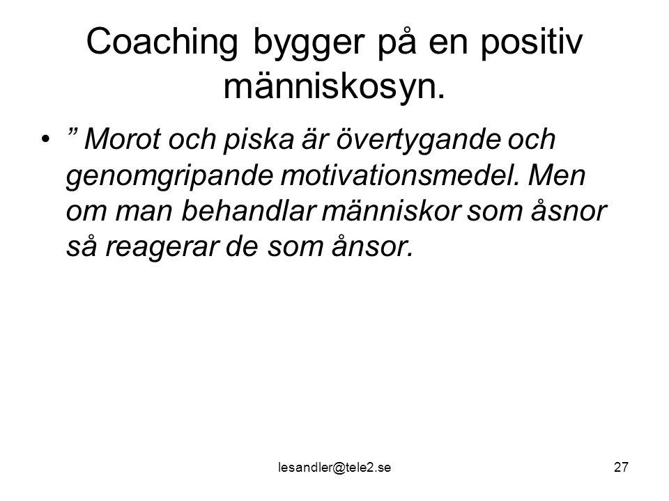 Coaching bygger på en positiv människosyn.