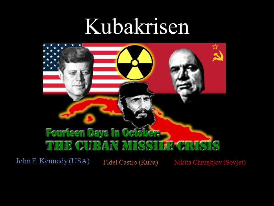 Kubakrisen John F. Kennedy (USA) Fidel Castro (Kuba)