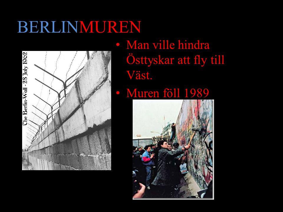 BERLINMUREN Man ville hindra Östtyskar att fly till Väst.