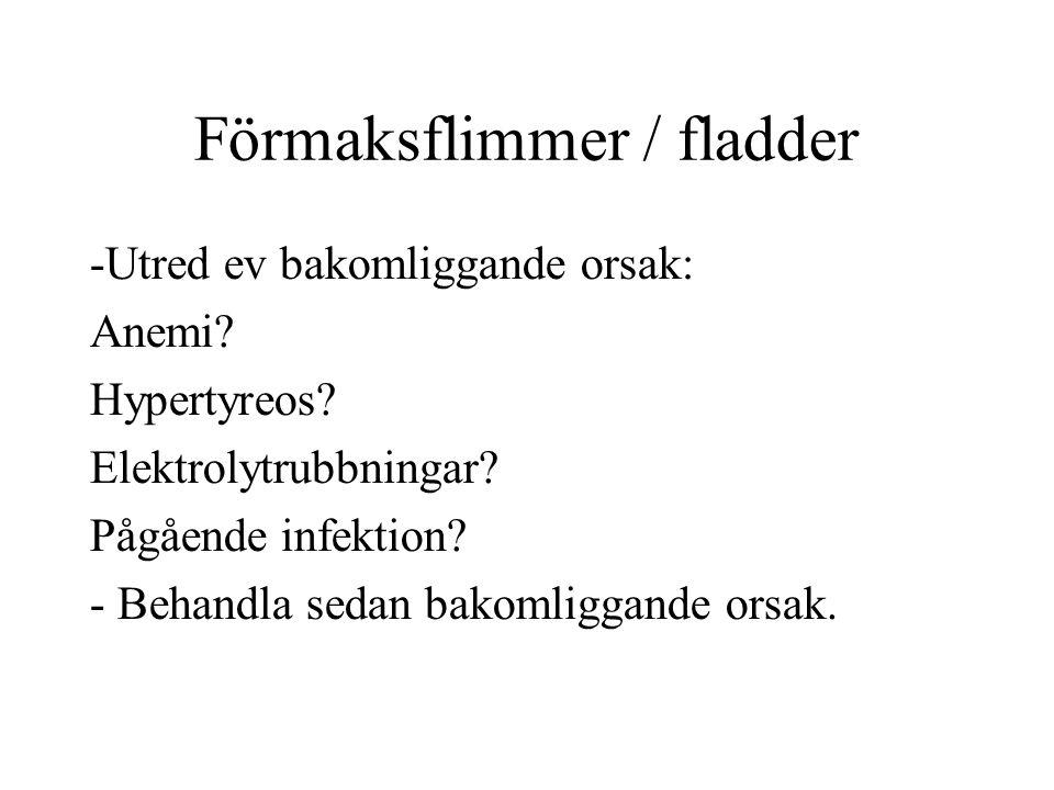 Förmaksflimmer / fladder