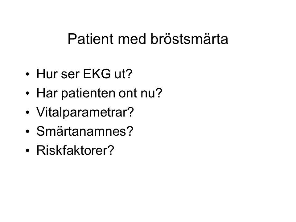 Patient med bröstsmärta