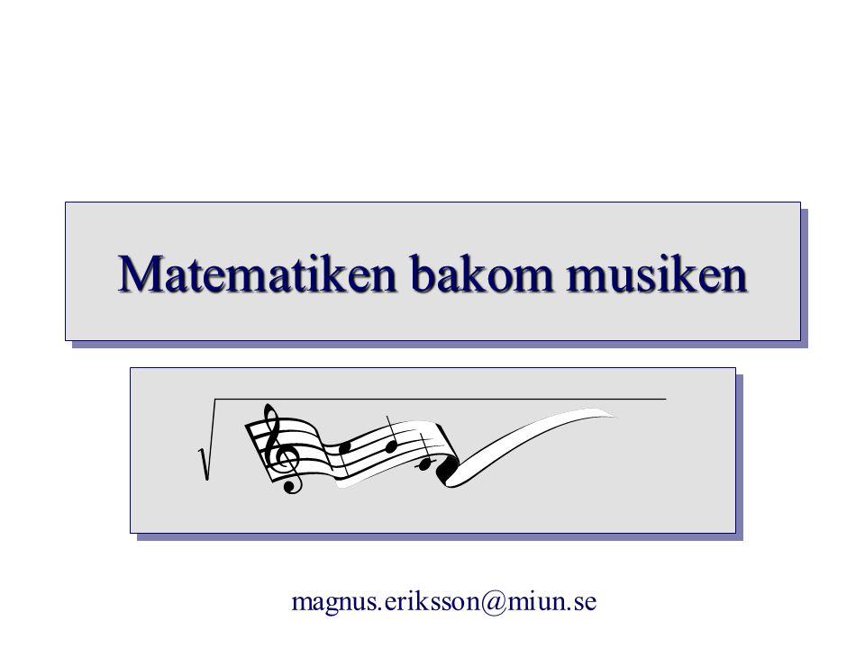 Matematiken bakom musiken