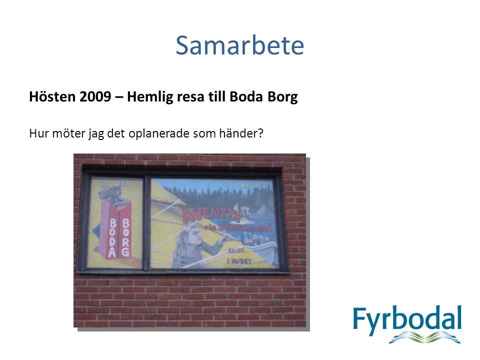 Samarbete Hösten 2009 – Hemlig resa till Boda Borg