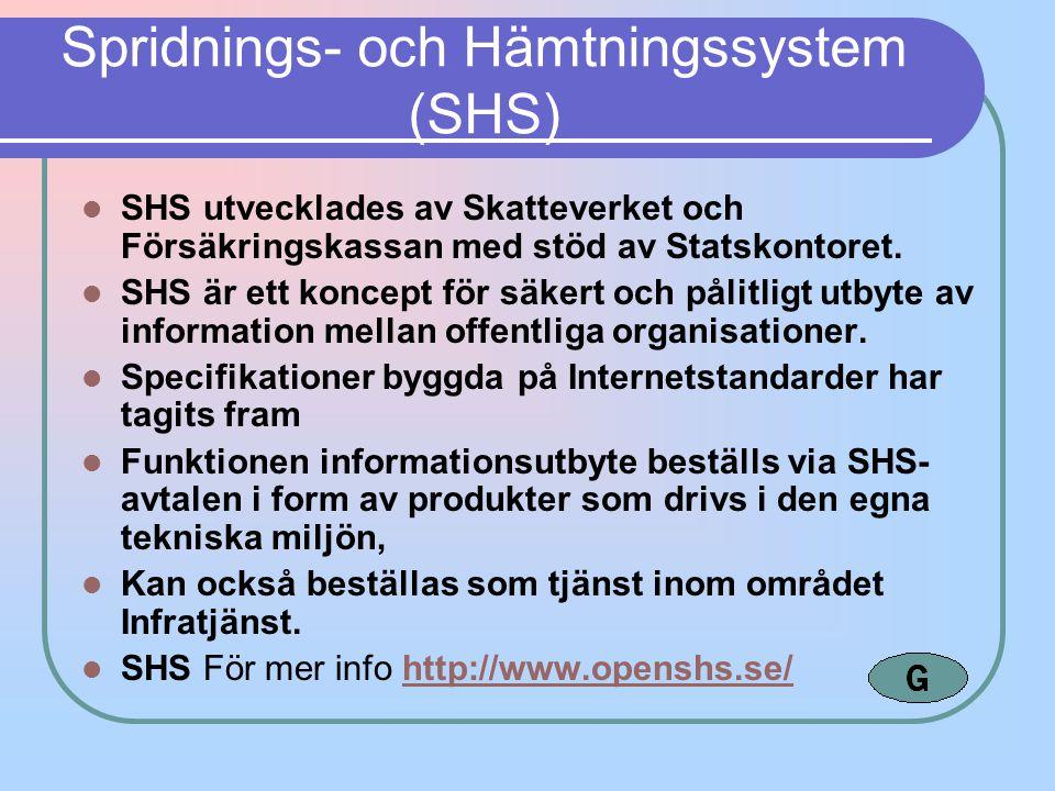 Spridnings- och Hämtningssystem (SHS)