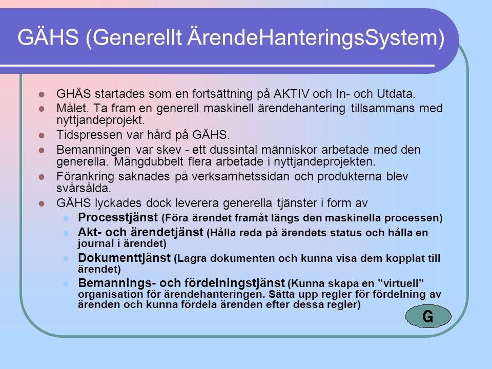 GÄHS (Generellt ÄrendeHanteringsSystem)