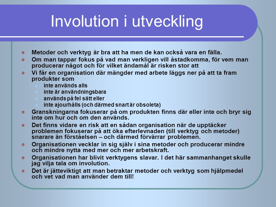 Involution i utveckling