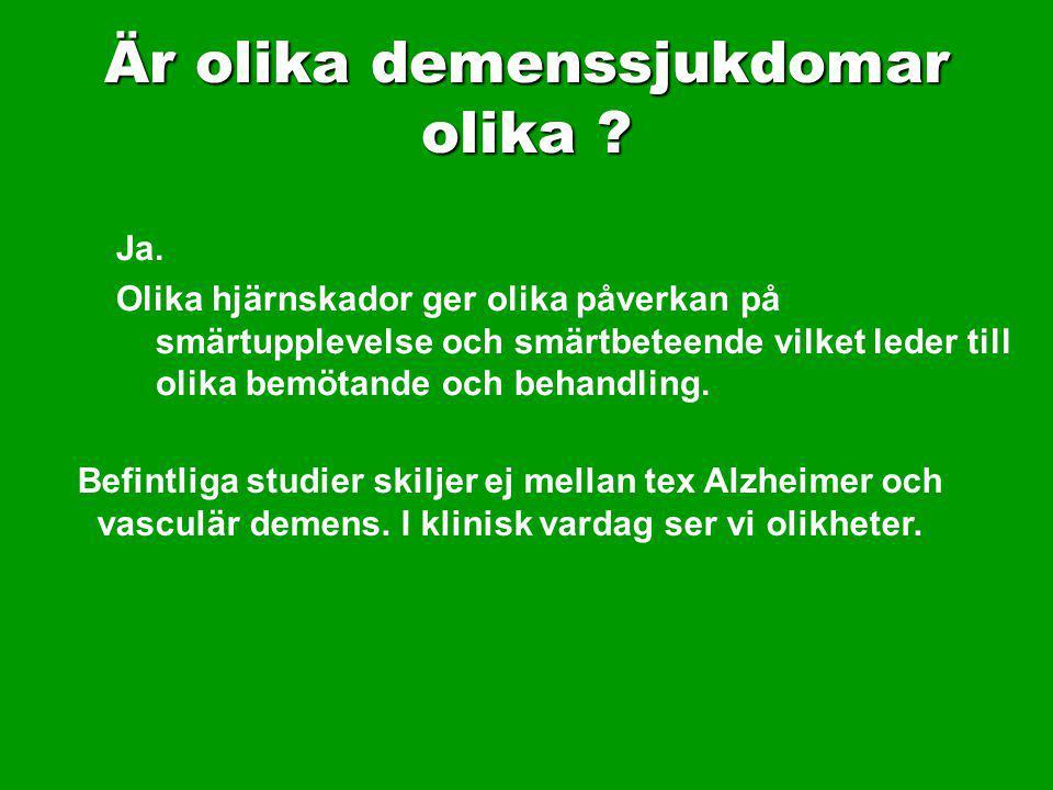 Är olika demenssjukdomar olika