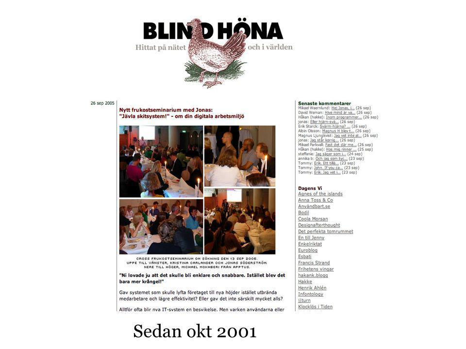 Sedan okt 2001