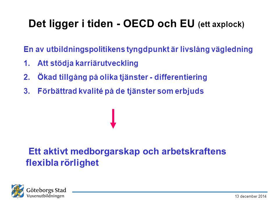 Det ligger i tiden - OECD och EU (ett axplock)